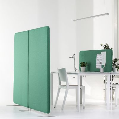 Softline Golv 50 installation på kontorets arbetsrum