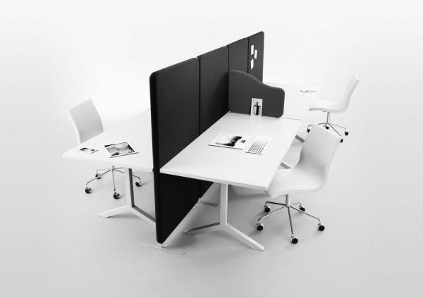 Installationsbild Softline Grey golvskärm och skrivbordsskärm