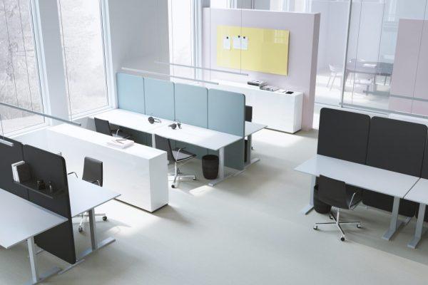Installation av Softline skärmväggar i call center