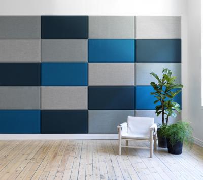 Domo Wall akustikpaneler på vägg i kontor