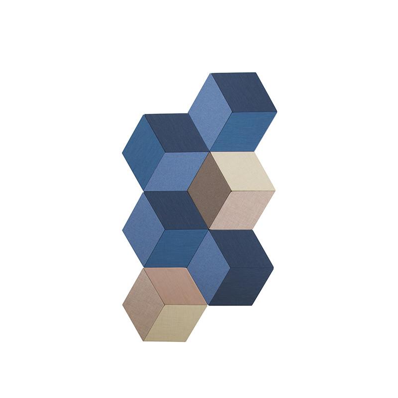 Skapa snygga mönster med ljuddämpande absorbenter på vägg