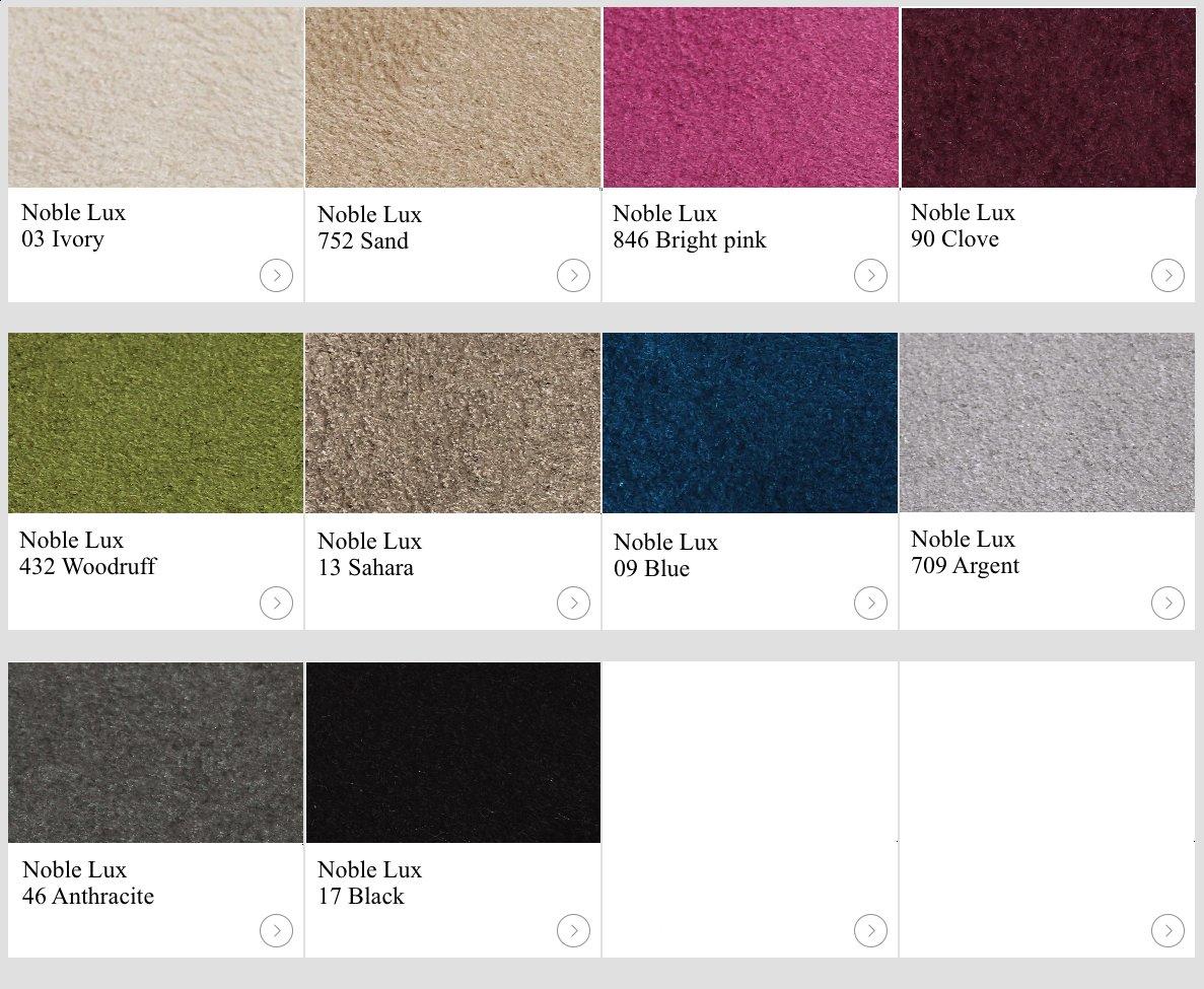 Textil Noble Lux. Kulörexempel