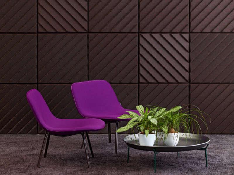 Offecct Soundwave Stripes ljudabsorbent i brun kulör