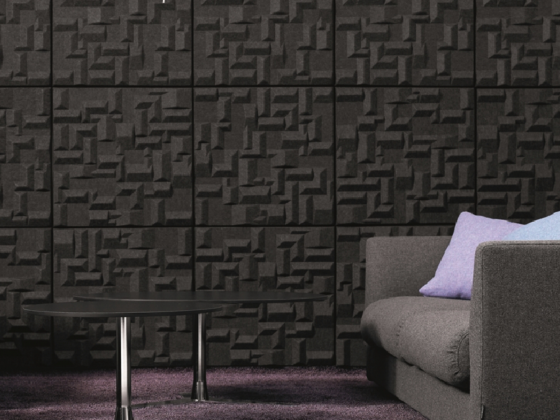 Offecct Soundwave Village Anthracite ljudabsorbent