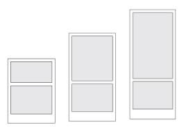 Designbild av hur golvskärmen är utformad