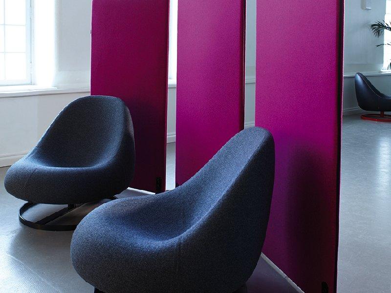 Snygga ScreenIT skärmväggar i trendig rosa kulör