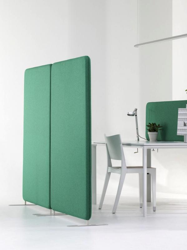 Abstracta Softline skärmvägg och tillhörande bordsskärm
