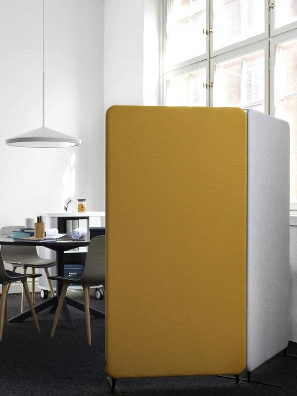 Skärmväggar runtom lunchrum i kontor - Abstracta Softline
