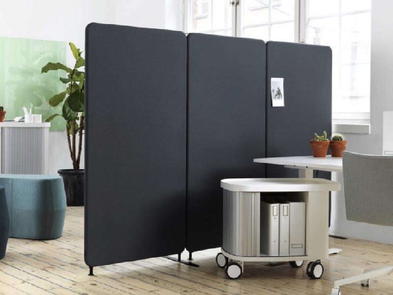 Golvstående skärmväggar i kontor - Abstracta Softline grå kulör