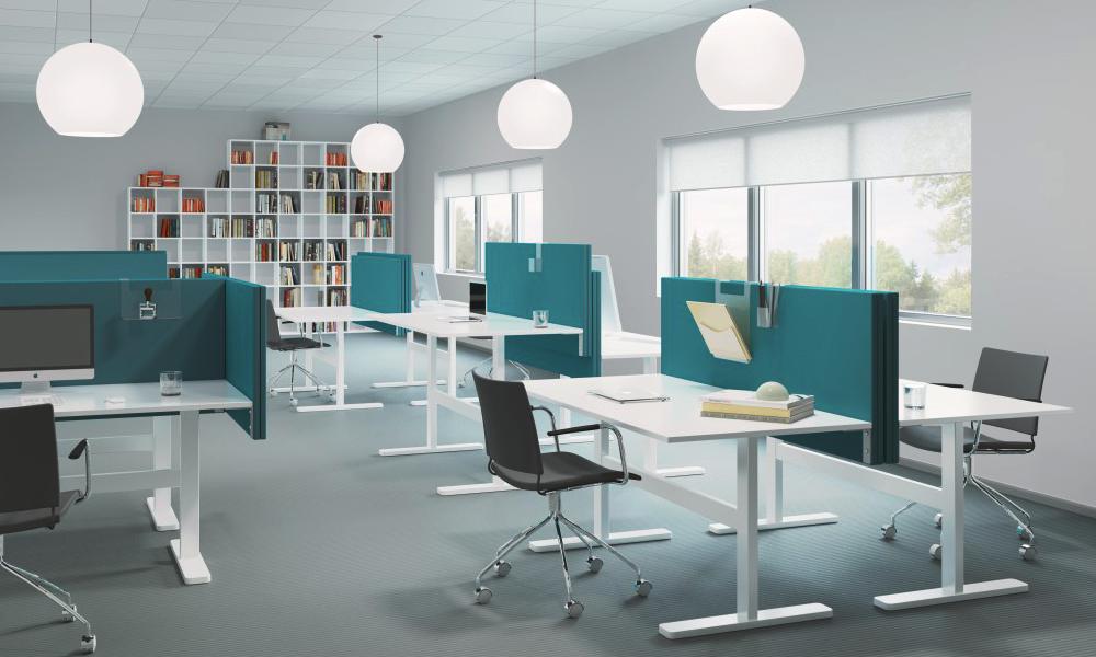 Snygga Abstracta Soneo bordsskärmar för ett bra ljudklimat på kontoret