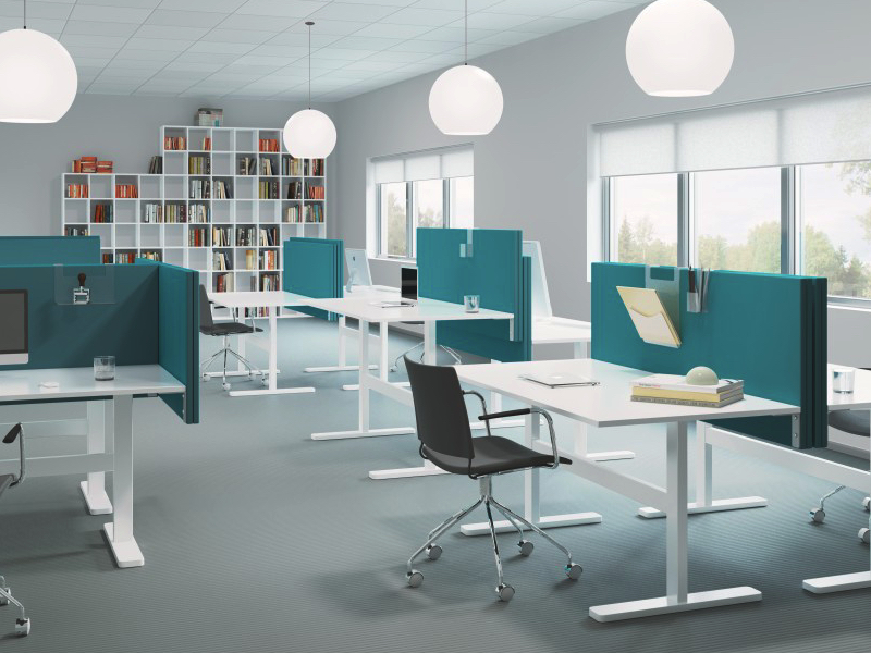 Soneo bordsskärmar finns i flera olika storlekar och färger för att passa alla dina skrivbord på kontoret