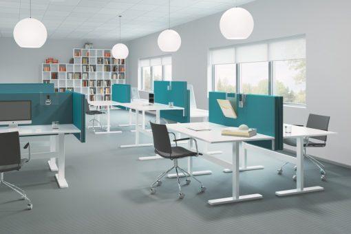 Soneo bordsskärmar i snygg installation på kontor