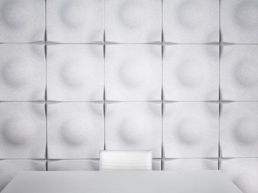 Installationsbild av Soundwave Swell i mötesrum, konferensrum