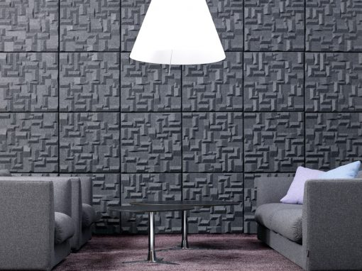 Installationsbild av Soundwave Village Grey akustikpanel