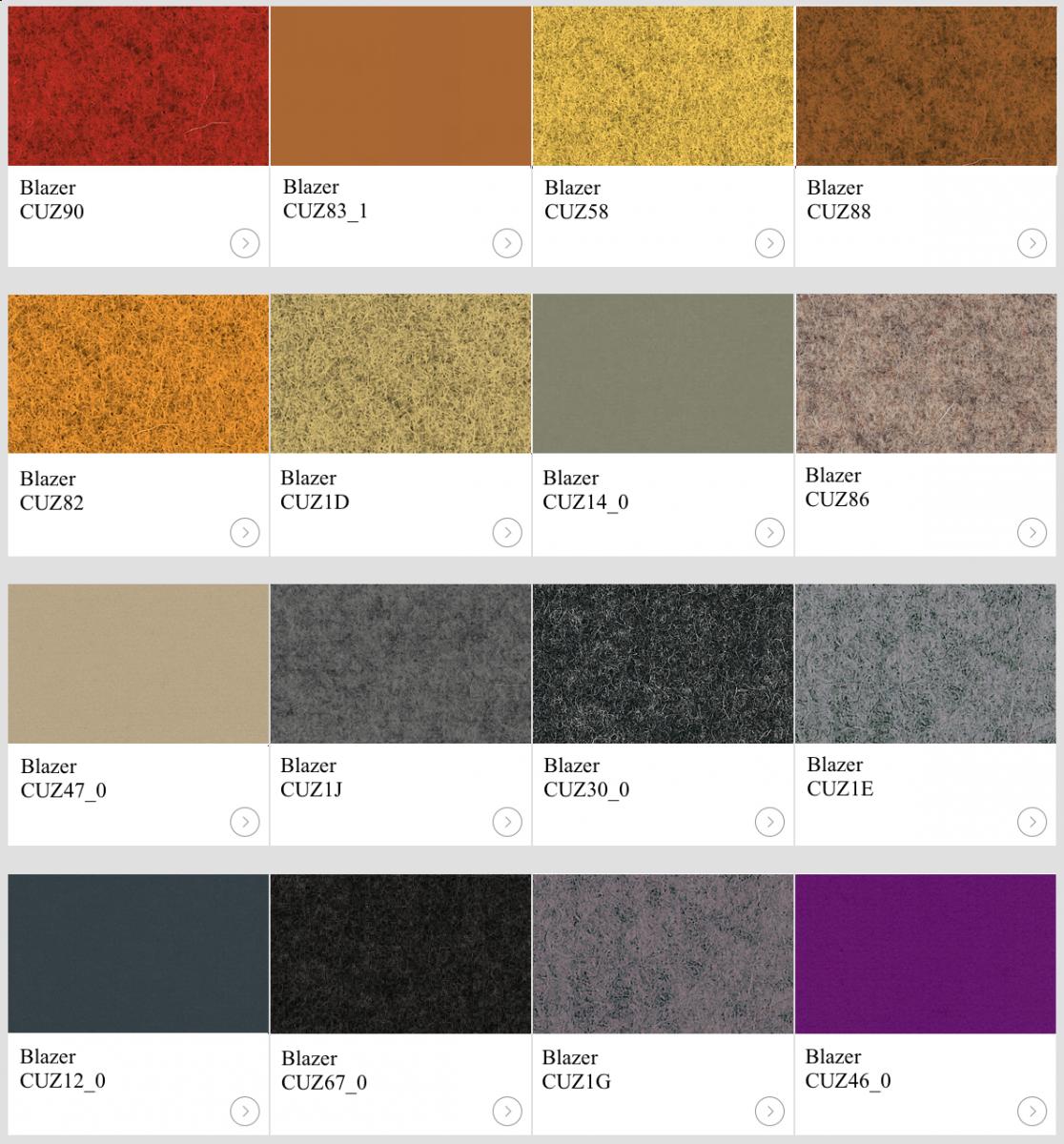Textil Blazer II kulörer till skärmväggar
