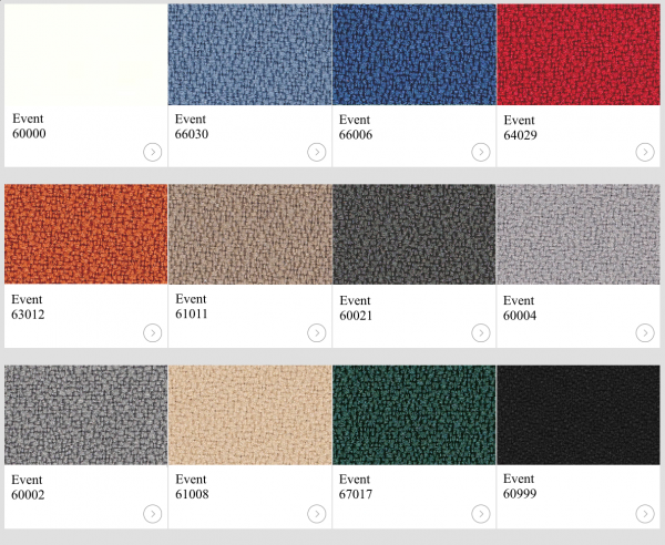 Textil Event Screen Standard kulörer till skärmväggar