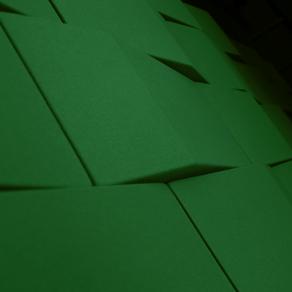 Triline ljudabsorbenter i grönt